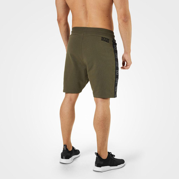 Better Bodies Stanton Sweat Shorts - Khaki Green Detail 2