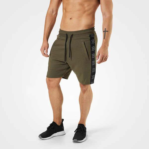 Better Bodies Stanton Sweat Shorts - Khaki Green Detail 1