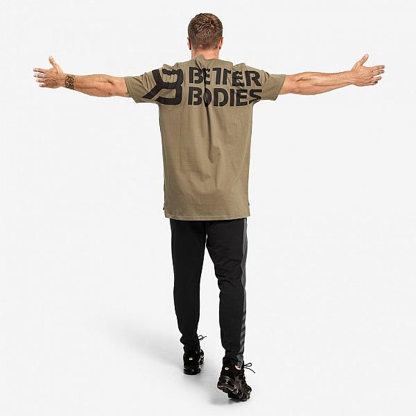 Better Bodies Stanton Oversize Tee - Washed Green Detail 2